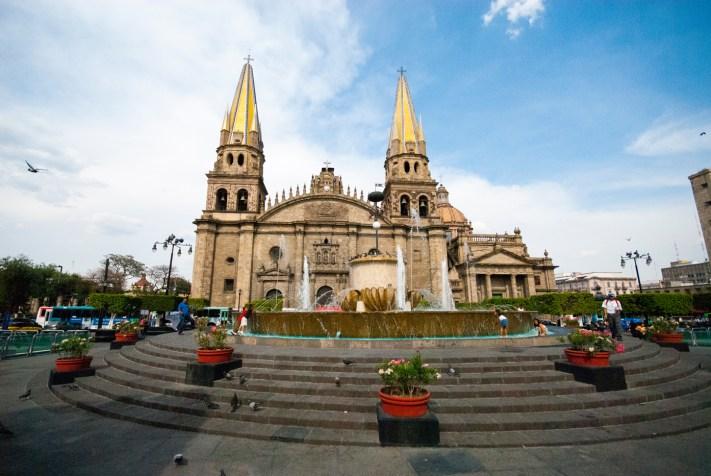 Beautiful Guadalajara Cathedral. La catedral de Guadalajara