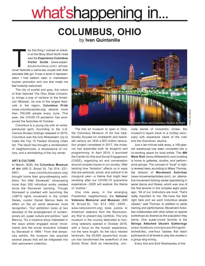 Gay Guide to Columbus Ohio