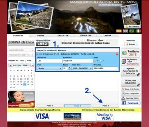Machu Picchu Tickets Paso 2