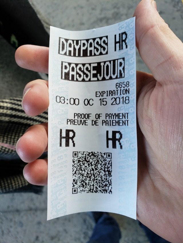 Ottawa bus pass