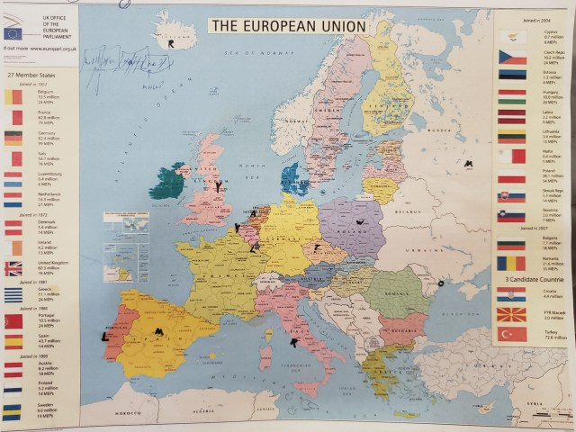 Europe Map Front