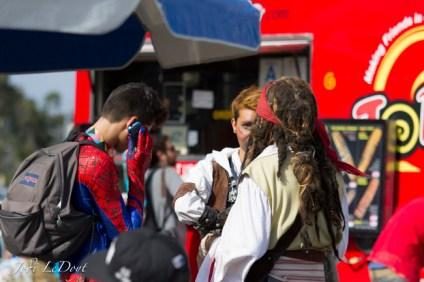 Spiderman, John Sparrow, and Asassins Creed Guy