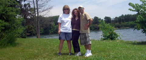 C-Lo, cuz and I at Smith Mountain Lake State Park