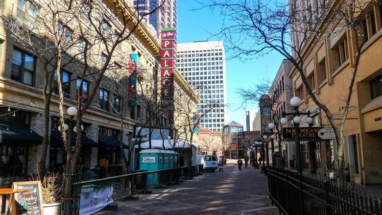 Walking street in St. Paul