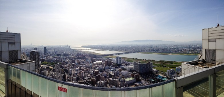 Osaka, Japan from Umeda Sky Building