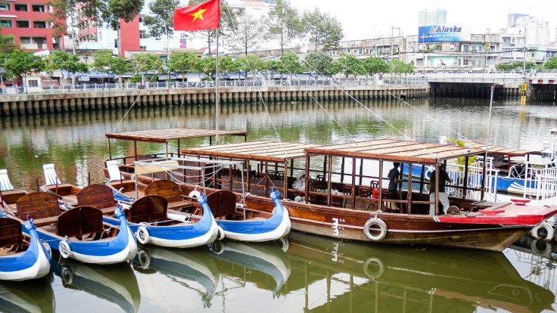 Boats in Saigon