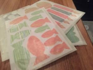 Sticker im Taschen Kit