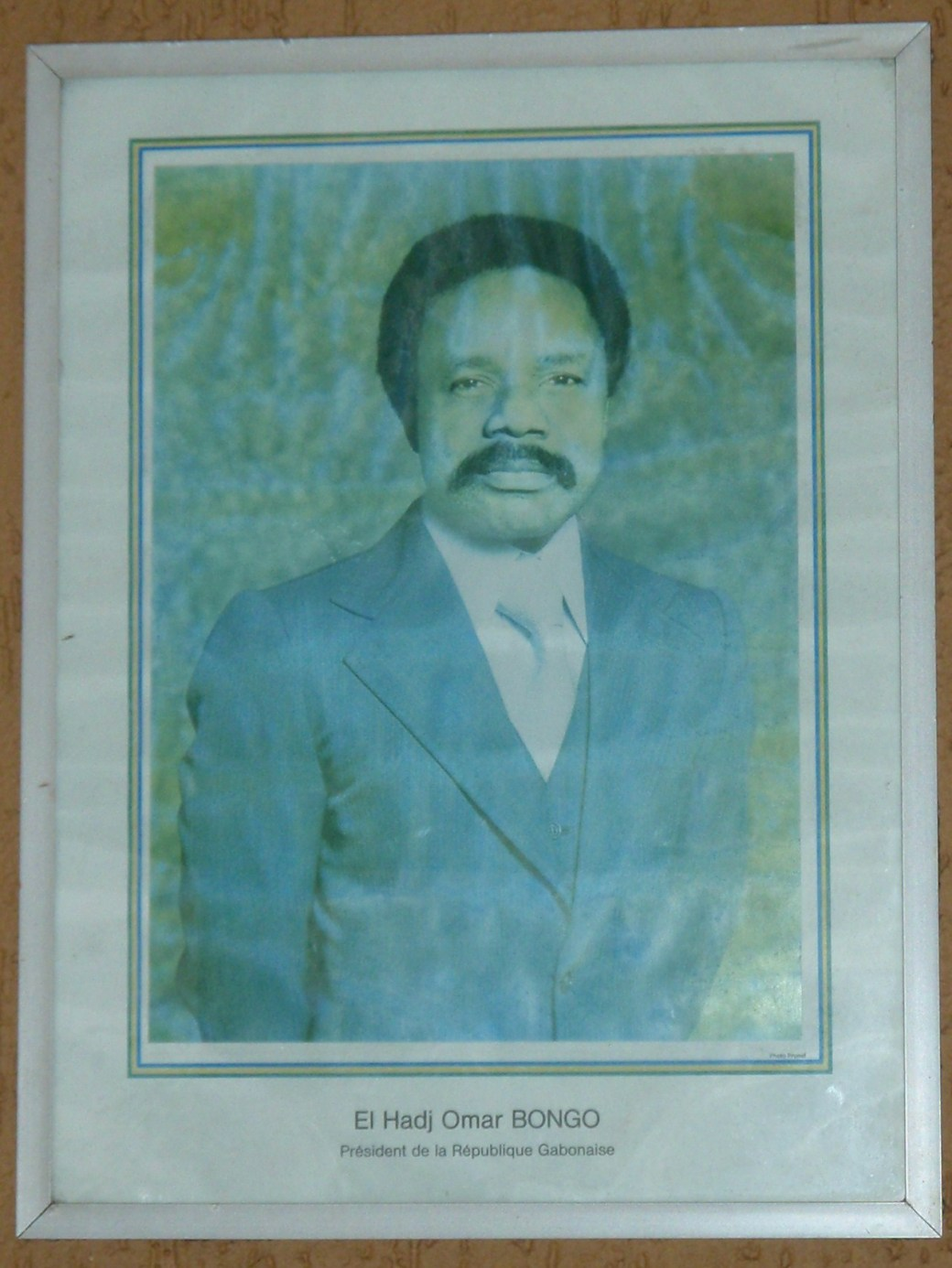 Gabon President Portrait; Port Gentil, Gabon; 2010