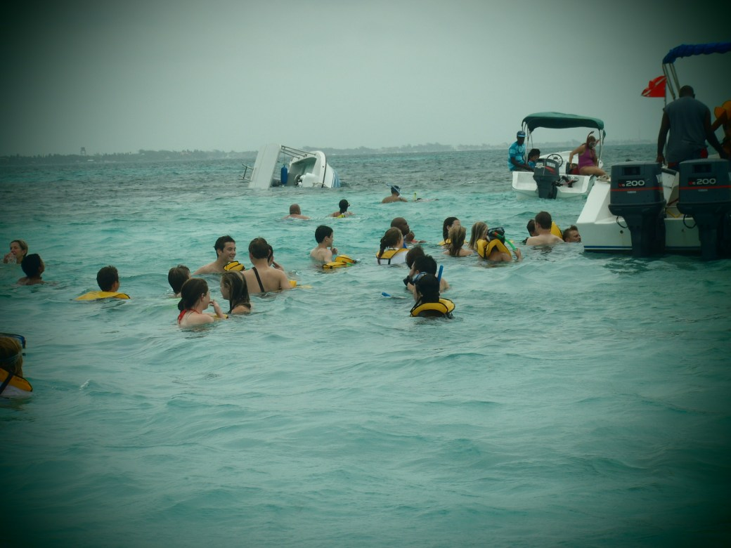 Boat Capsized; Caye Caulker, Belize; 2013