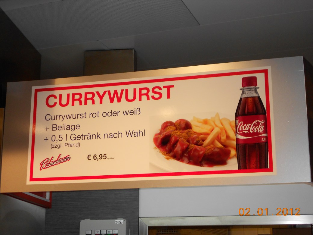 Currywurst; Munich, Germany; 2012