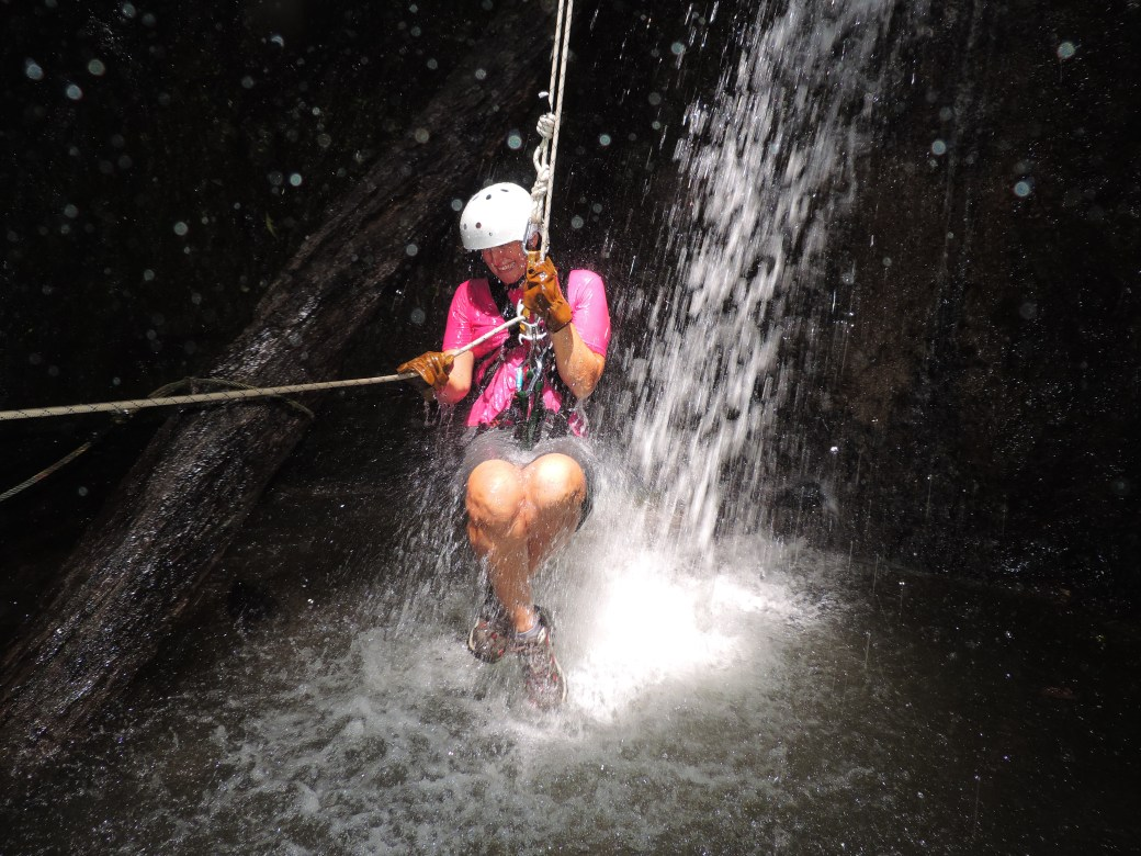 Abseiling into a Waterfall; Costa Rica; 2013