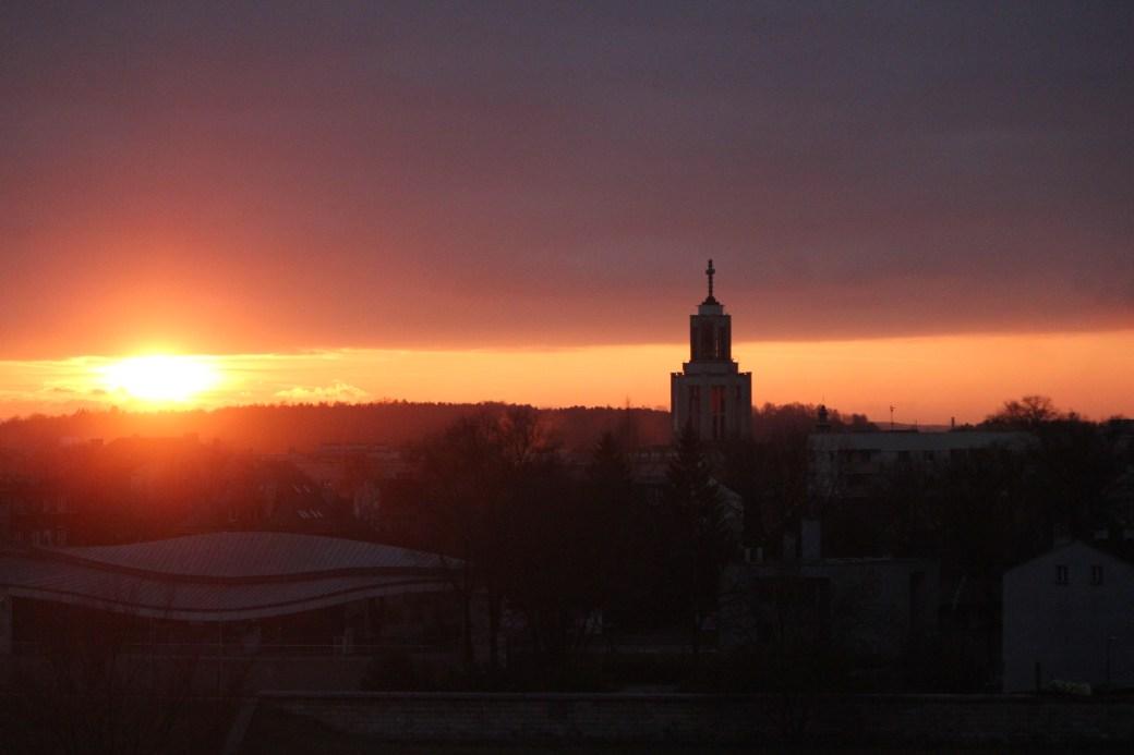 Sunset over Krakow; Poland; 2011