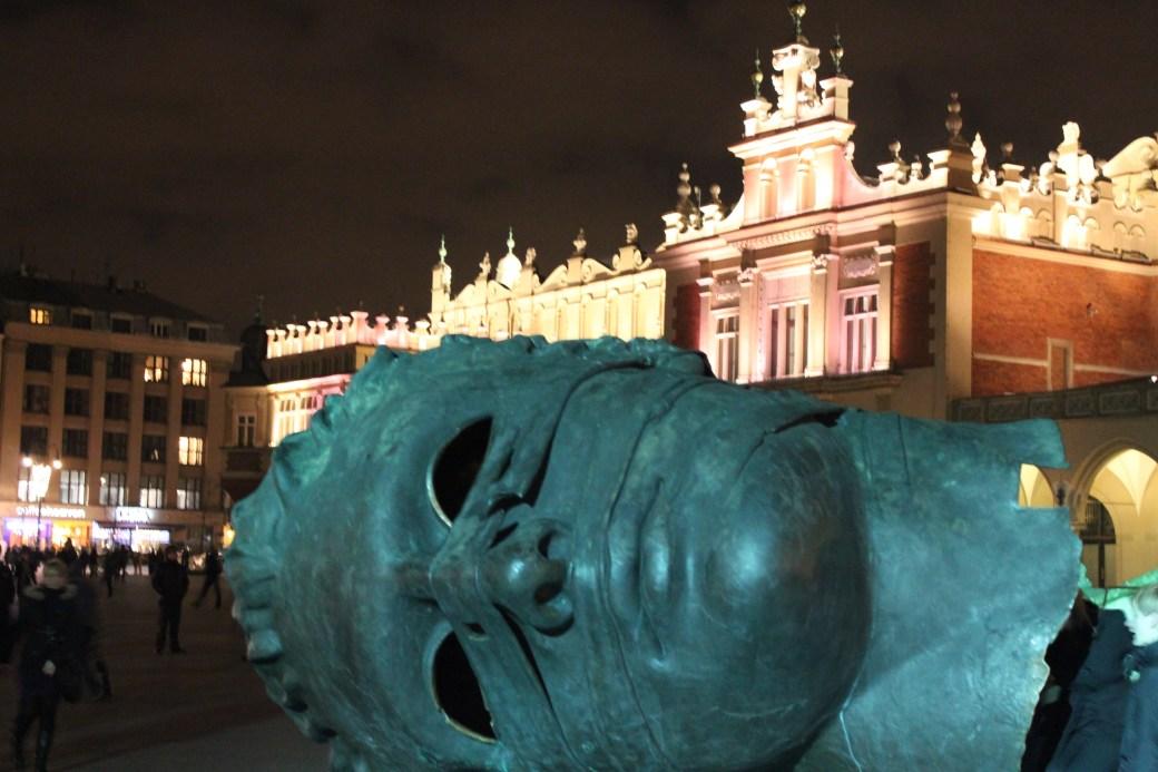 Giant Head with Building; Krakow, Poland; 2011