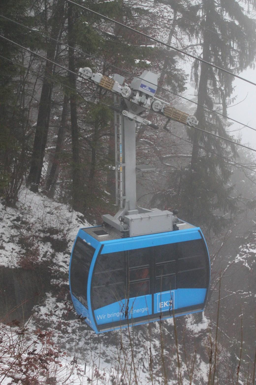 Blue Cable Car; Zurich, Switzerland; 2011