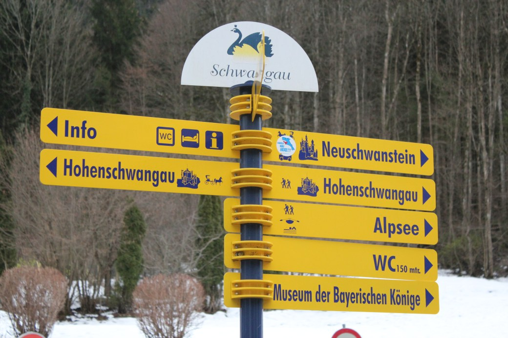 Directions to Castles; Schwangau Village, Germany; 2012