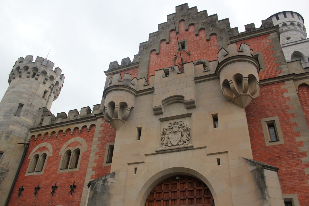 Architecture of Neuschwanstein Castle; Schwangau Village, Germany; 2012