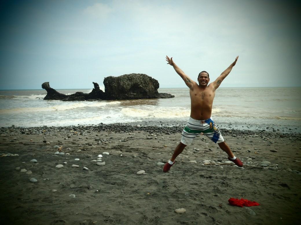 Passing on the Traditional Signature Jumpin' Photograph; El Tunco, El Salvador; 2013
