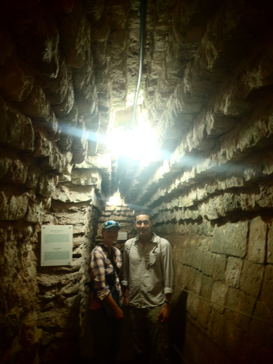 Inside King's Tomb with Rob and I; Copan, Honduras; 2013