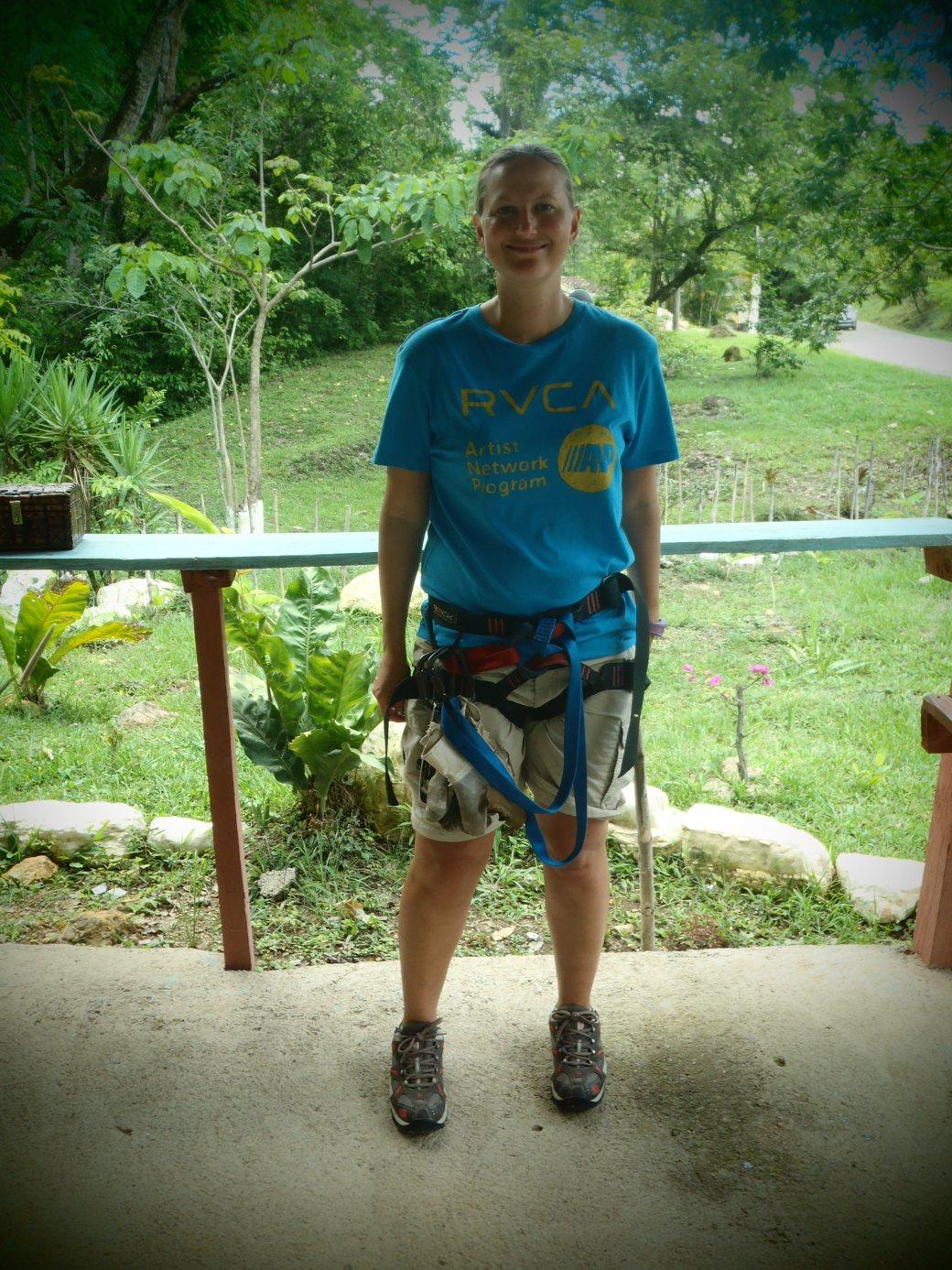 Zip Line Preparation; Copan, Honduras; 2013