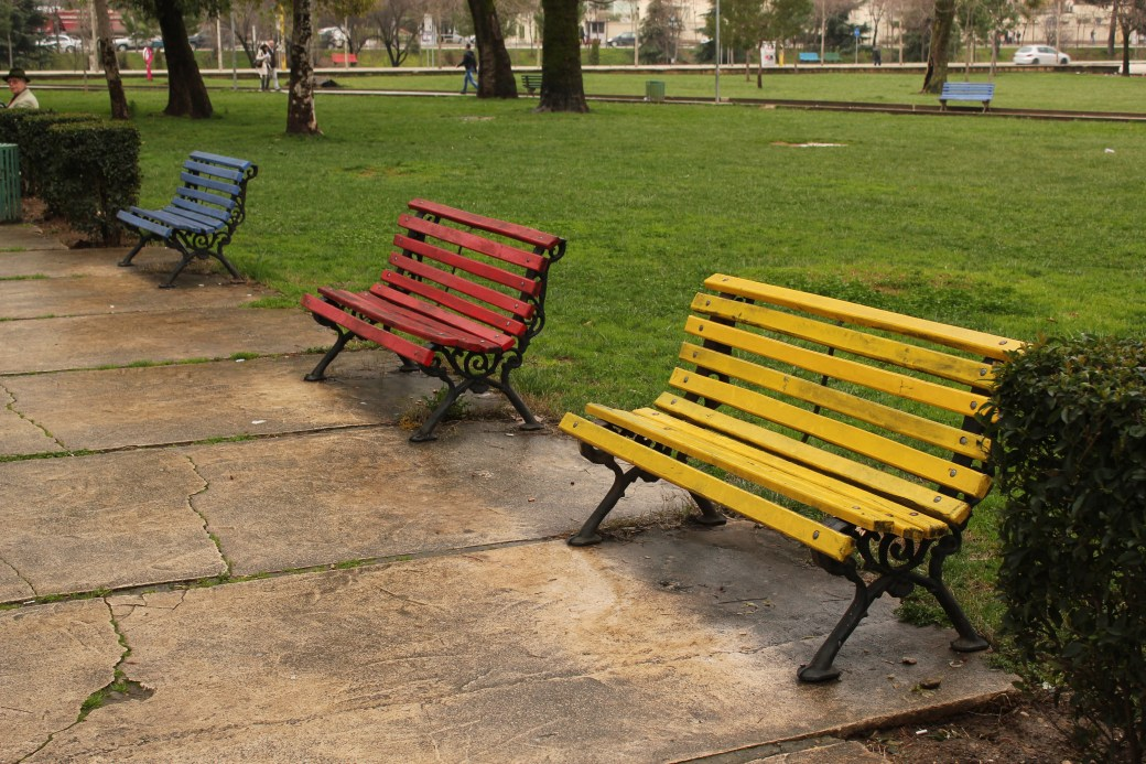 Colored Benches; Tirana, Albania; 2013