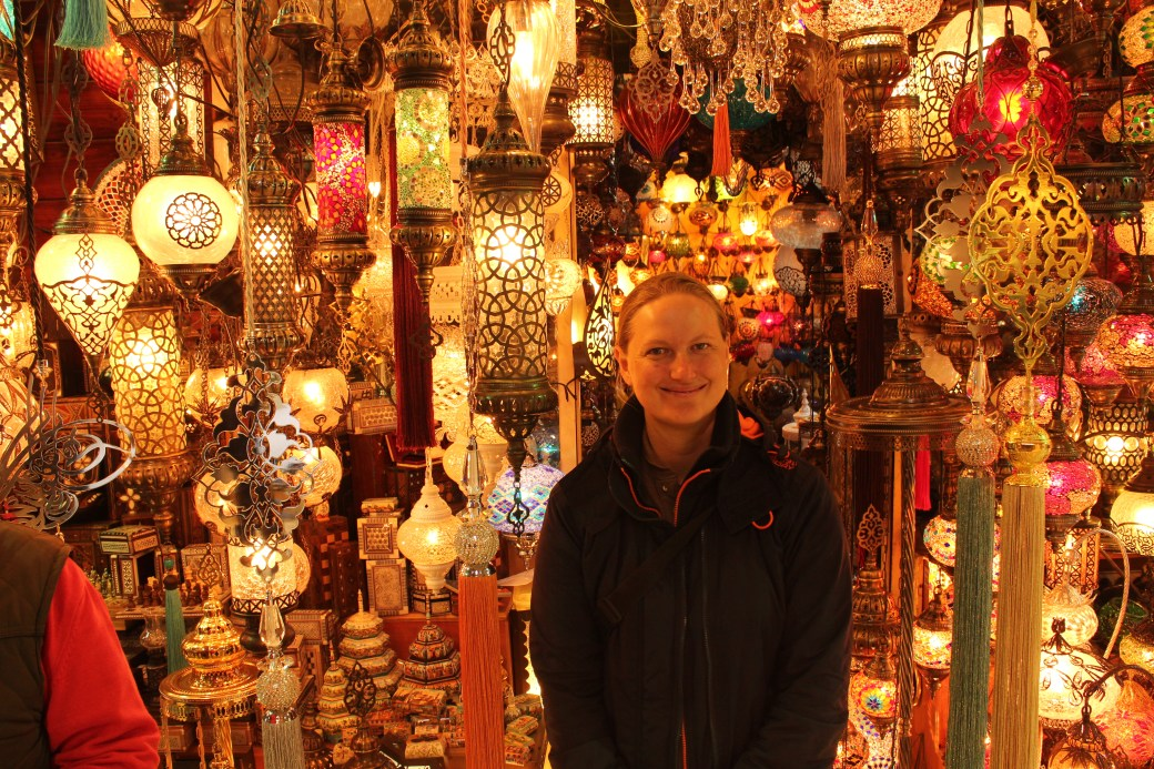 Surrounded in Turkish Lamps; Istanbul, Turkey; 2013