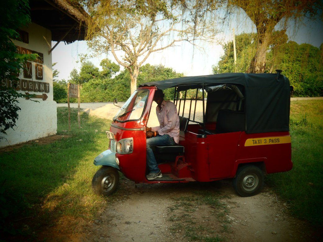 Tuk Tuk Ride; Diani Beach, Kenya; 2011
