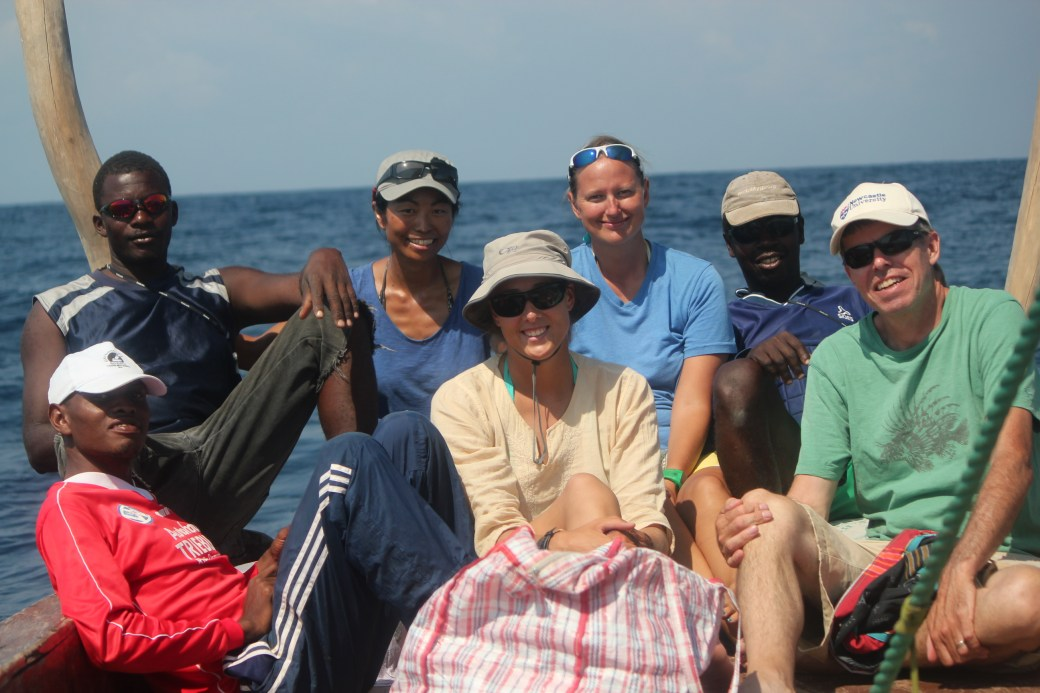 Newcastle University Research Assistants and Professor (in green shirt); Kizimakzi Dimbani, Zanzibar, Tanzania; 2011