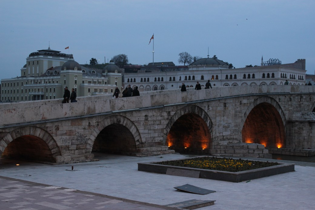 Bridge Night View; Skopje, Republic of Macedonia; 2013