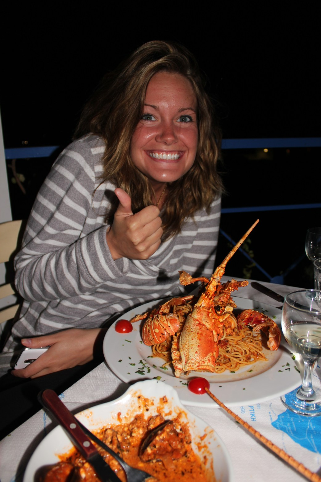 A Happy Ashley; Santorini Island, Greece; 2013