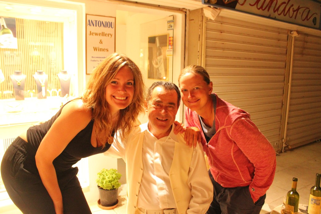 Ashley, me, and Shop Owner; Santorini Island, Greece; 2013