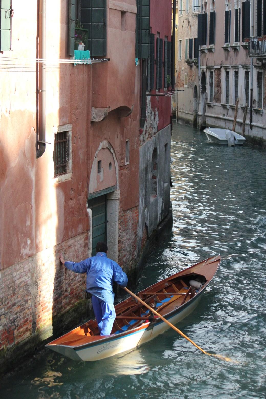 Gondola Driver with Help; Venice, Italy; 2011