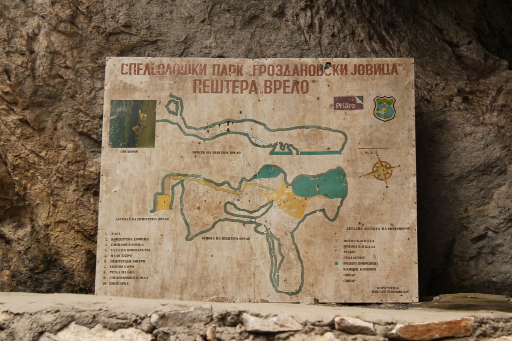 Map of Cave; Matka, Republic of Macedonia; 2013