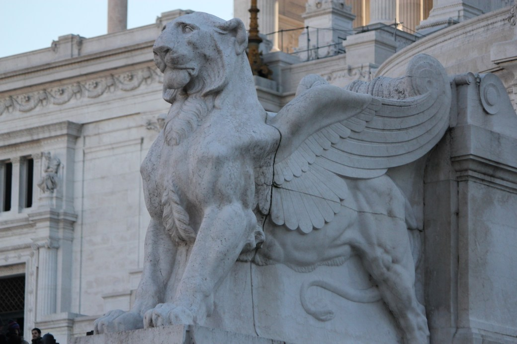 Lion with Wings Statue; Rome, Italy; 2011
