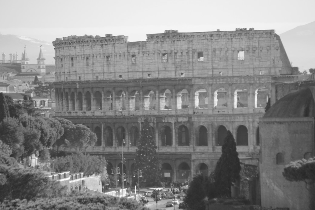 The Colosseum in Black-n-White; Rome, Italy; 2011
