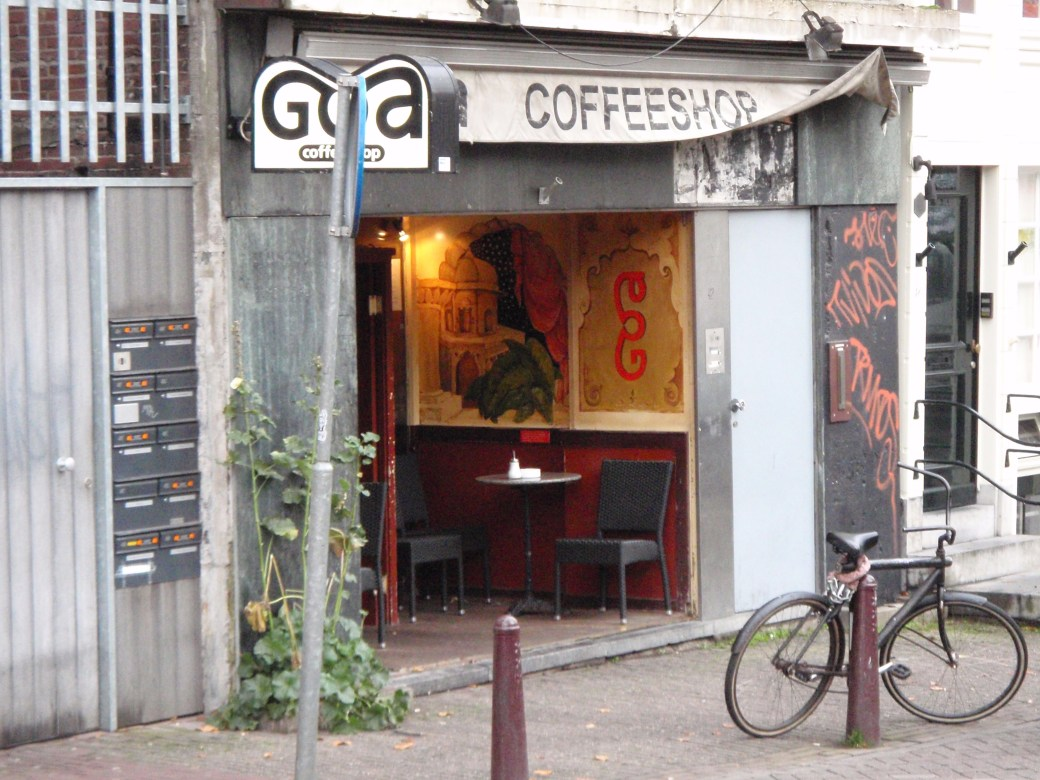 Coffee Shop & Bike; Amsterdam, Netherlands; 2010