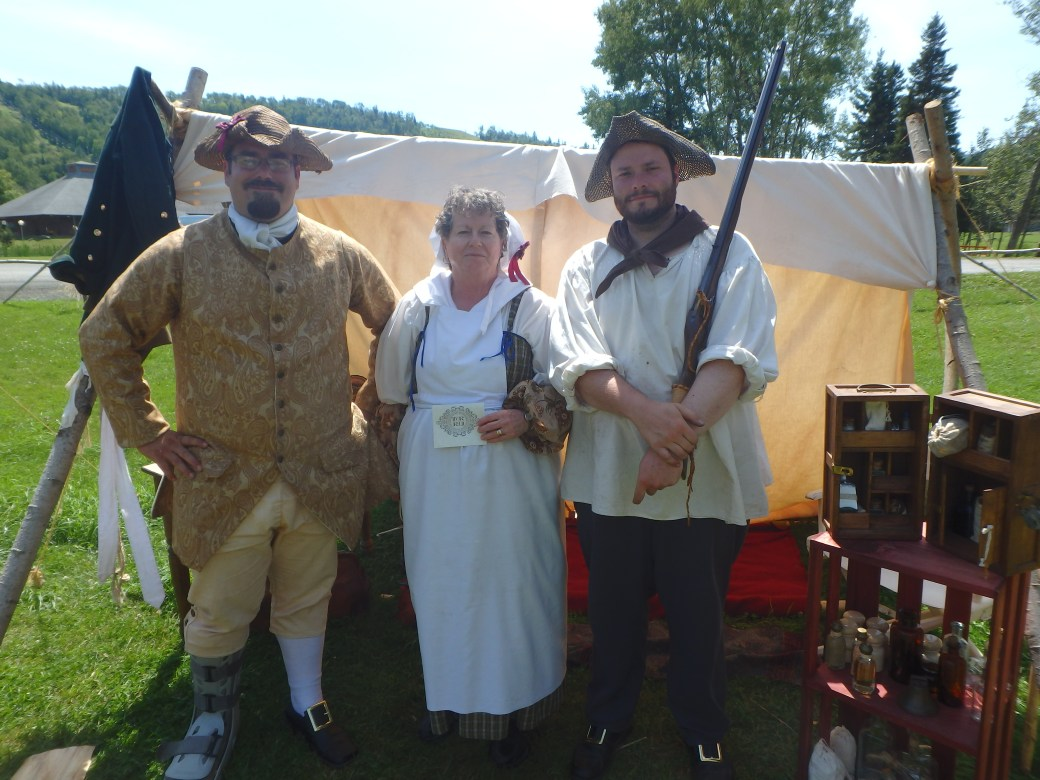 Mike, Jan, and Anthony Portraying their Roles in The Battle of Restigouche; Campbellton, New Brunswick; 2015