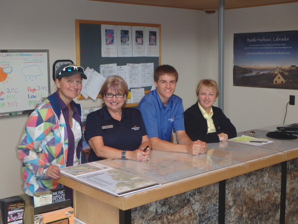Deer Lake Staff & and I; Deer Lake Tourist Center; 2015