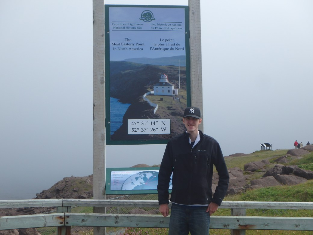 Eastern Most Point of North America with Joshua; Cape Spear, Newfoundland; 2015