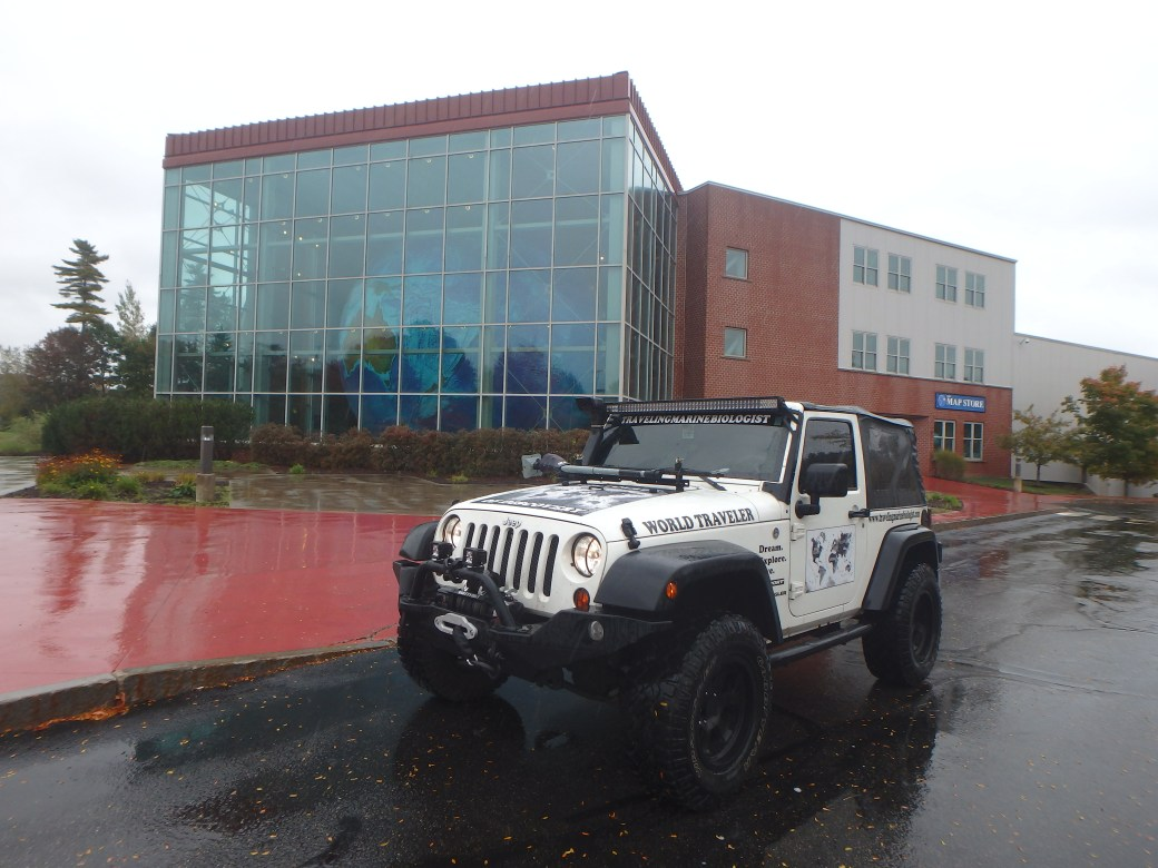 Jeep in Front of The Map Store; Yarmouth, ME; 2015