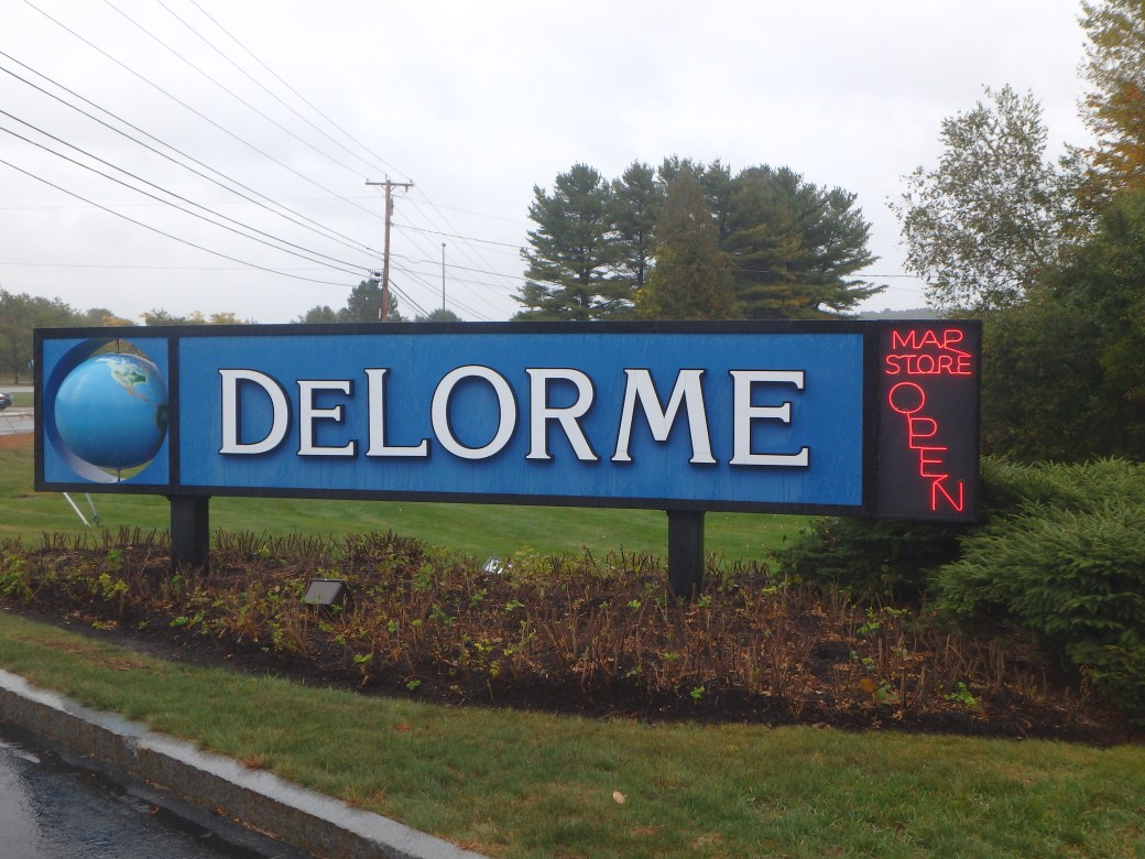 DeLorme Sign; Yarmouth, ME; 2015