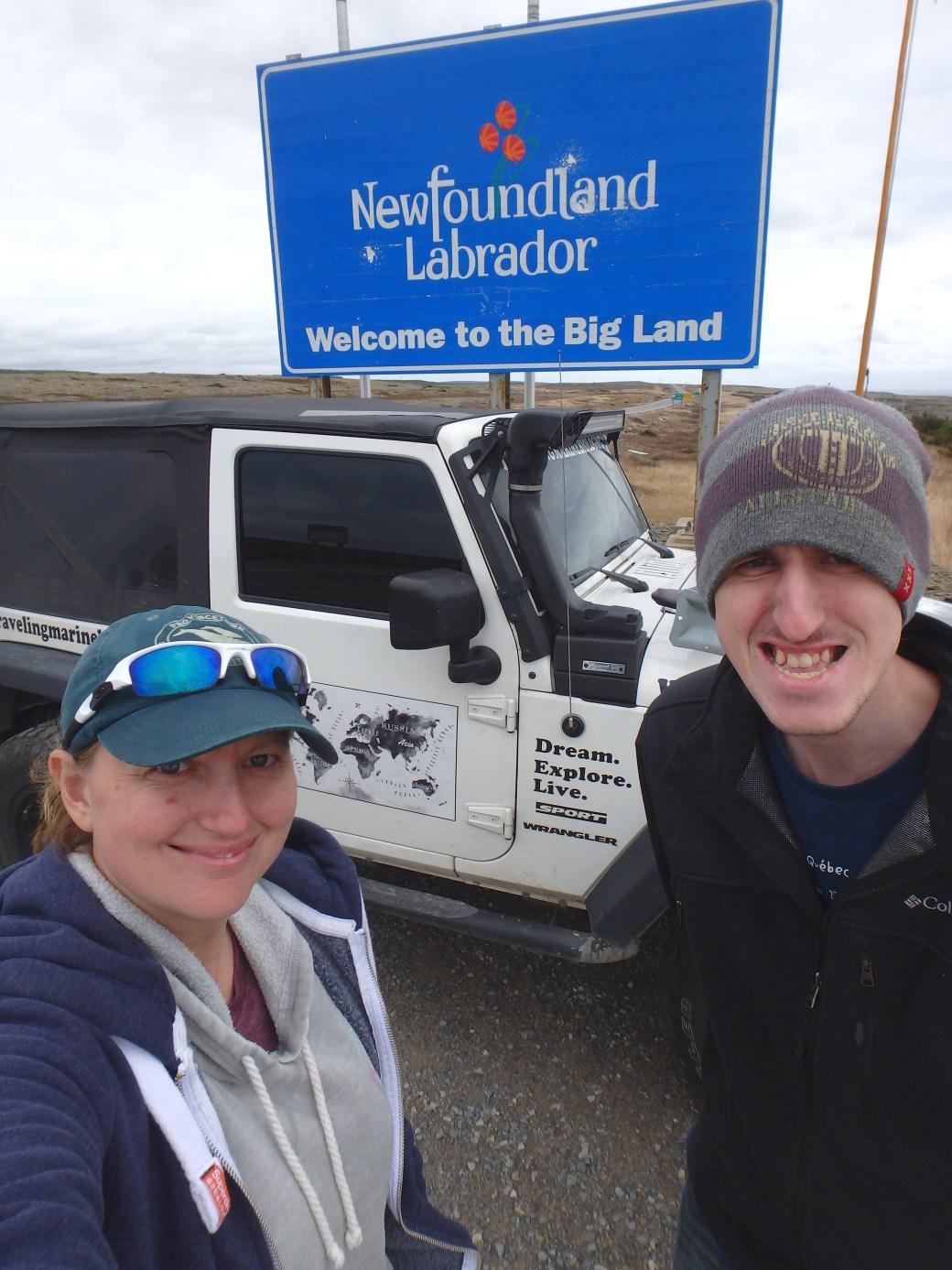 Jessica & Josh Posing; Labrador, Canada; 2015