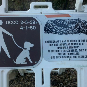 rattlesnake warning sign