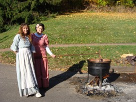 Westbrook's Cannery old fashioned apple butter kettle fire