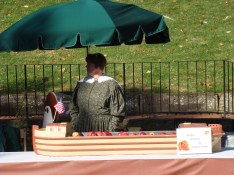 Canal boat history period costume old fashioned apple butter