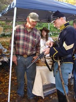 Union soldier civil war replica gun foxfire mountain man talk old fashioned apple butter