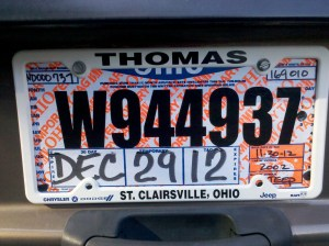 drunk driving license plate
