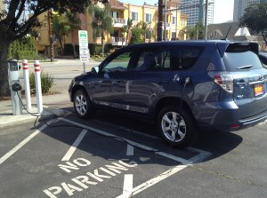 Tesla technology electric vehicle car Toyota RAV4 EV future Los Angeles SUV