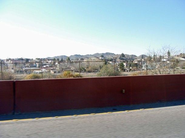 Looking across the border into Juarez, Mexico