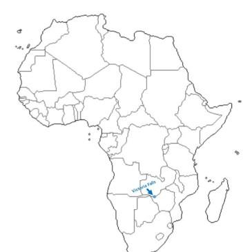 Africa map outline Vic Falls Devils Pool