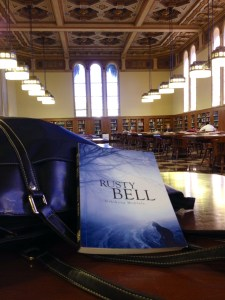A trip to the USC Library for Mohlele's third novel. (c) 2015 Melanie Hooks